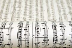 Bladmuziek Royalty-vrije Stock Afbeeldingen