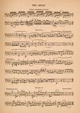 Bladmuziek voor Orgaan Stock Afbeelding