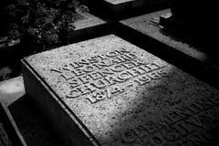 Bladon, Woodstock, het UK, Juli 2013, St Martins Church de begrafenisplaats van Sir Winston Churchill royalty-vrije stock fotografie