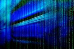 Bladserveren är en närbild i en serie av supercomputers royaltyfri illustrationer