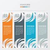 Bladstijl op banner Oranje, blauwe, grijze kleur Stock Foto's