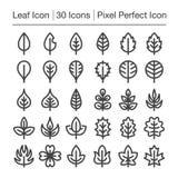 Bladsymbol royaltyfri illustrationer