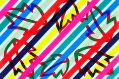 Bladteckning på diagonalt utskrivavet mönstrat papper royaltyfri illustrationer