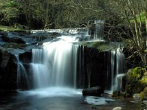 Blaen-y-glyn. One of several beautiful waterfalls in Blaen-y-glyn, South Wales Stock Images