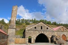 Blaenavon Ironworks. Old ironworks buildings at Blaenavon, Wales Stock Image