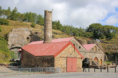 Blaenavon Ironworks. Remains of Blaenavon Ironworks in Wales Stock Image