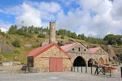Blaenavon Ironworks. Remains of Blaenavon Ironworks in Wales Stock Images