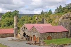 Blaenavon Ironworks. Ruins of Blaenavon Ironworks, Wales Stock Photo