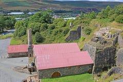 Blaenavon Ironworks. Ruins of Blaenavon Ironworks, Wales Royalty Free Stock Photo
