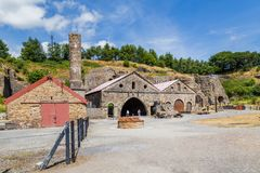 Blaenavon Ironworks in Wales, UK. Heritage site Blaenavon Ironworks in Wales, UK stock photography