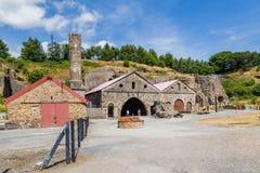 Blaenavon järnverk i Wales, UK arkivbild