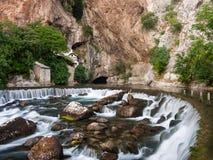 Blagaj bosnia and herzegovina. House of dervish in blagaj bosnia and herzegovina royalty free stock photos