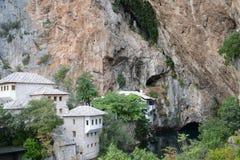 Blagaj dervischhus i Bosnien och Hercegovina Fotografering för Bildbyråer