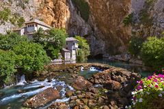 Blagaj dervish house - Bosnia and Herzegovina Royalty Free Stock Photo