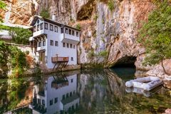 Blagaj dervish house - Bosnia and Herzegovina Stock Photography