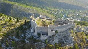 Blagaj - Fortress. The old town Blagaj, also known as Bona or Stjepan-city, is a fortress in the area of Blagaj Mostar, Bosnia and Herzegovina. It is located on Stock Photography