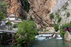 Blagaj Tekke Dervish Monastery in Bosnia and Herzegovina stock photography