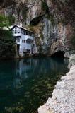 Blagaj Tekke nära byn Blagaj, Bosnien och Hercegovina royaltyfria foton