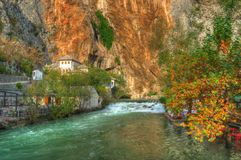 Dervish house, Blagaj, Bosnia and Herzegovina royalty free stock photo