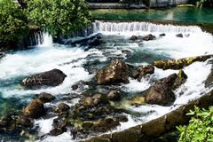 Blagaj Waterfalls Bosnia and Gerzogovina royalty free stock images