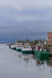 Blagopoluchiya harbor with stone pier and berths Royalty Free Stock Photos