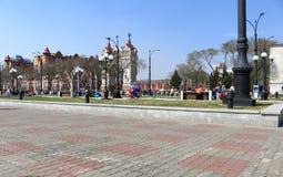 Blagoveschensk-promenad Royaltyfri Bild