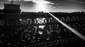 Blagoveschensky bro Arkivfoto