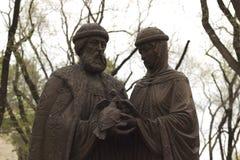 Blagoveshchensk, Россия, памятник к Pyotr и Fevronia Стоковое Изображение