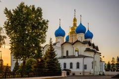 Blagoveshchensk domkyrka i den Kazan Kreml, Ryssland Royaltyfria Bilder