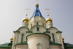 Blagoveshchensk, Rússia, catedral do aviso da Virgem Maria abençoada Imagens de Stock Royalty Free