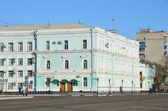 Blagoveshchensk, Rosja, Październik, 21, 2017 Dom handlowy Gleba Petrovich Larin Przy teraźniejszym czasem - budynek Zdjęcia Stock