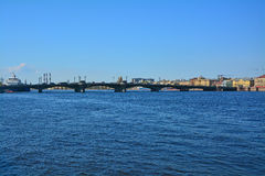 Blagoveshchensky桥梁在圣彼德堡,俄罗斯 免版税库存图片