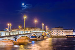 Blagoveshchensky πιό πολύ ή Annunciation γέφυρα σε Άγιο Πετρούπολη Στοκ Εικόνες