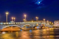 Blagoveshchensky πιό πολύ ή Annunciation γέφυρα σε Άγιο Πετρούπολη Στοκ Φωτογραφία