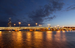The Blagoveshchensky Annunciation bridge during the white nights in St. Petersburg, Royalty Free Stock Image
