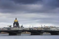 Blagoveshchensky bridge, St. Petersburg, Russia Stock Photo