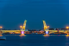 Blagoveshchensky Bridge during the White Nights, St Petersburg. The Blagoveshchensky (Annunciation) Bridge during the White Nights in St. Petersburg, Russia Stock Photos