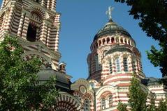 Blagoveshensky大教堂在哈尔科夫,乌克兰 库存照片