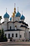 Blagoveshensky大教堂在喀山克里姆林宫,俄国 免版税库存图片