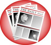 The Daily Blah. Newspaper Royalty Free Stock Photo