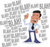 Blah! blah! blah! corporate character Royalty Free Stock Images