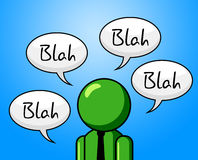 Blah Conversation Shows Chat Conference And Gossip Royalty Free Stock Images