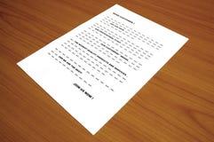blah koncepcji listu przez zdjęcie na wprowadzenie do obrotu zdjęcia stock