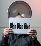 Blah- Sign Series Stock Images