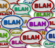 Blah - Speech Bubble Background Stock Photography