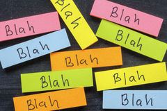 Blah stickers Stock Image