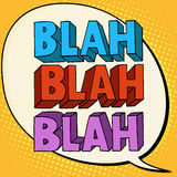 Blah talk comic bubble text Stock Photography