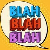 Blah talk comic bubble text Stock Photography