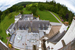 Blair castle. View over the roof of Blair Castle in Scotland Royalty Free Stock Images