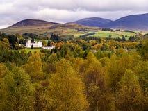 Blair castle in the autumn stock photo